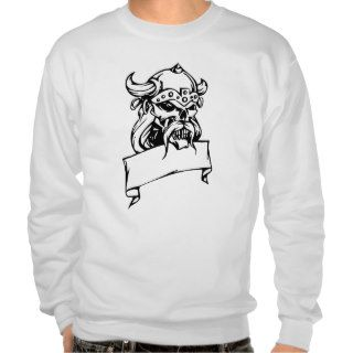 Viking Skull Pull Over Sweatshirts