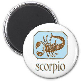 Antique Blue Scorpio Refrigerator Magnet