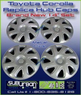 "404 Series Toyota Corolla 14"" Replica Hubcaps Wheel Covers New Set: Automotive"