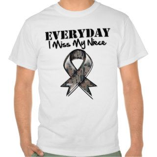 Niece   Everyday I Miss My Hero Military T Shirts