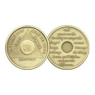 13 Year Bronze AA (Alcoholics Anonymous)   Sobriety / Birthday / Anniversary / Recovery / Medallion / Coin / Chip: Everything Else