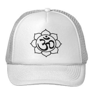 Lotus Flower Aum Symbol Mesh Hats