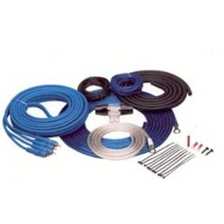 Tsunami 8 Gauge/350 Watt Amplifier Install Kit with RCA's and Manl Fuse Holder A50BL RCA, Blue  Vehicle Audio Car Mounts