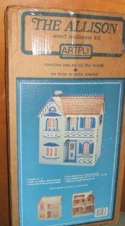 "Vintage Dollhouse "" The Allison "" Wooden Doll House Kit   Model No. 77 Toys & Games"