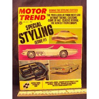 1966 66 April MOTOR TREND Magazine (Features: Road Test on Plymouth Hemi, Carprice '427', & Ford LDT, + Mercedes 200, Volvo 122 S, & Toyota Corona): Motor Trend: Books