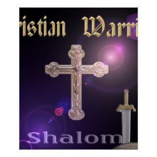 Christian Warrior Poster