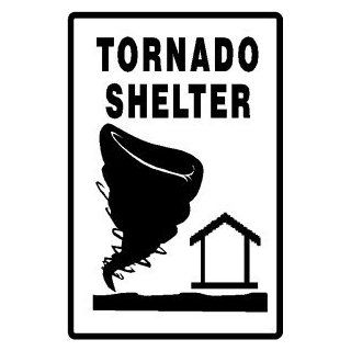 TORNADO SHELTER emergency weather safety sign   Yard Signs