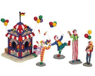 Lemax Carnival Village Ticket Booth and Clowns 5 Piece Table Accent Set #63563   Holiday Figurines