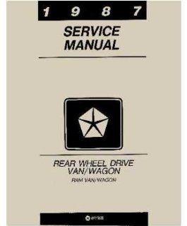 1987 Dodge Ram Van Shop Service Repair Manual Book Engine Drivetrain Wiring OEM Automotive
