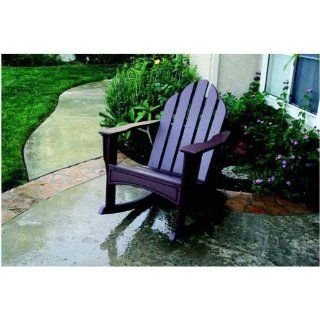 Eagle One C427Green Green Recycled Plastic Adirondack Rocking Chair C427  Patio Chair Covers  Patio, Lawn & Garden