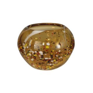 Dale Tiffany Amber Speckle Round Bowl