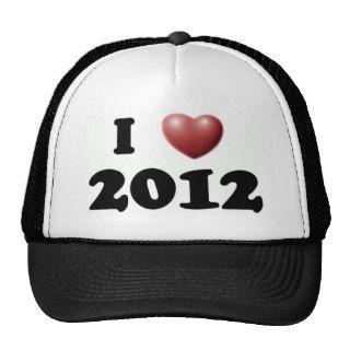 I Love 2012 Hats