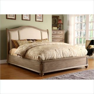 Riverside Furniture Coventry Upholstered Sleigh Bed in Driftwood   COVUPHOLSTBED