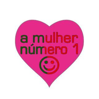 A Mulher Número 1   Number 1 Wife in Portuguese Sticker