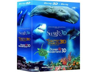 Jean Michel Cousteau's Film Trilogy 3D Blu ray Box Set (Dolphins & Whales / Sharks / Ocean Wonderland) [Region Free]