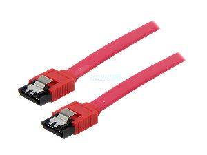 "Rosewill 20"" Serial ATA III Red Flat Cable w/ Locking Latch Support 6 Gbps, 3 Gbps, and 1.5 Gbps transfer rate Model RCW 204"