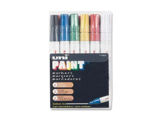 Sanford uni Paint Marker, Medium Point, Assorted, 12/Set