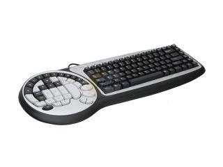 WOLF KING DK2588UH Black/White 8 Internet Hotkeys, 40 Game Pad Keys, 2 Control Keys Function Keys USB Wired Improved Performance Timberwolf Gaming Keyboard