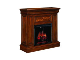 """ClassicFlame Corinth 42"""" Wide Wall or Corner Electric Fireplace and TV Stand (Walnut) 23DM537 W502"""