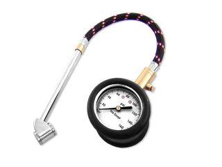 Neiko Heavy Duty Tire Gauge with Large Dial, Flex Hose, 10   160 PSI