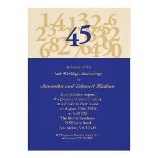 45.o Invitación del aniversario de boda del zafiro de