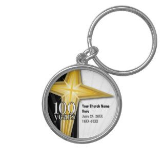 Customizable 100 Year Church Anniversary Keychain