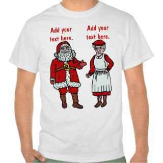 Funny Santa Claus & Mrs Christmas Personalized T Shirt