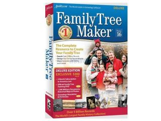 Encore Software Family Tree Maker Version 16 Deluxe  Software