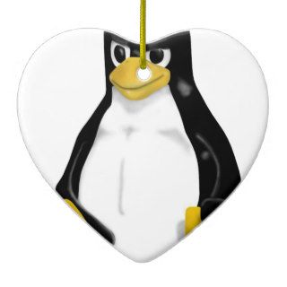 ANGRY LINUX TUX PENGUIN ORNAMENT