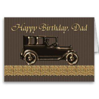 Happy Birthday Dad  Classic car Cards