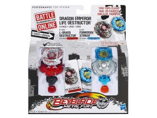 Beyblade Metal Fury Faceoff Dragon Emperor L Drago & Forbidden Striker