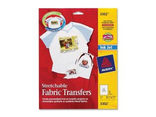 Avery Personal Creations Inkjet Stretchable Transfer Sheets, 5 per Pack