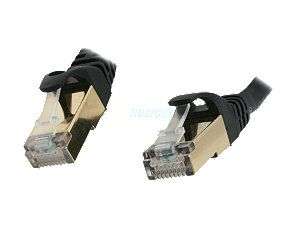 Rosewill RCW 3 CAT7 BK 3 ft. Cat 7 Black Color Shielded Twisted Pair (S/STP) Networking Cable