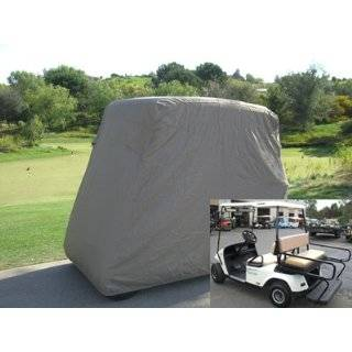 Golf Cart Storage Cover for 4 Seater with 2 Seater Roof up to 60