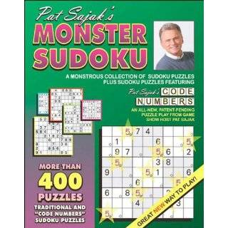 Pat Sajaks Monster Sudoku: A Monstrous …
